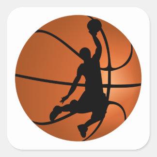 確実のバスケットボール選手 スクエアシール