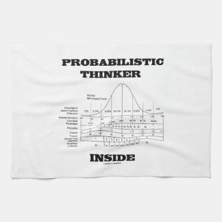 確率的な思想家の内部(鐘のカーブのユーモア) キッチンタオル