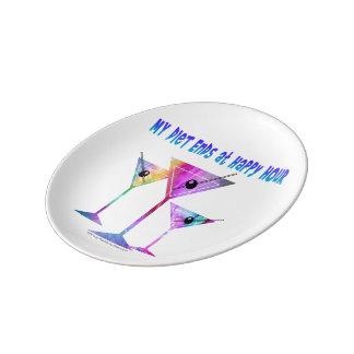 磁器皿-楽しい時間の私のダイエットの端 磁器プレート