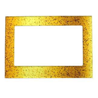磁気フレームのグリッターのグラフィックの金ゴールド マグネットフレーム