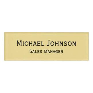 磁気名前入りな専門の豊富で模造のな金ゴールド 名札