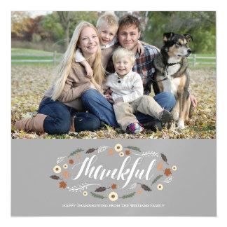 磁気感謝している感謝祭の写真カード マグネットカード