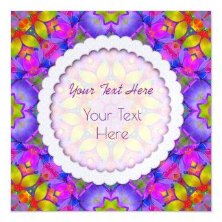 磁気招待状の花のフラクタルの芸術G445 マグネットカード
