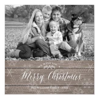 磁気素朴なクリスマスの写真カード マグネットカード