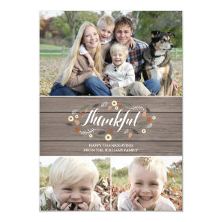 磁気素朴な感謝祭の写真カード マグネットカード