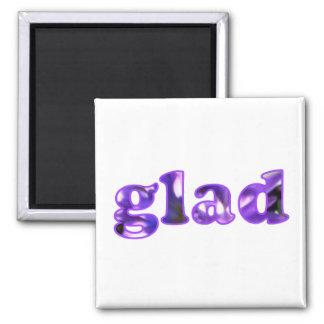 磁石が紫色と綴られる嬉しいによって開花します マグネット