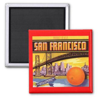 磁石のヴィンテージのサンフランシスコの広告のラベルカリフォルニア マグネット