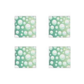 磁石の真新しい水の緑の泡のセット ストーンマグネット