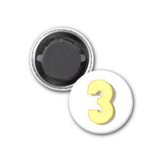 磁石の黄色そして灰色の第3 マグネット