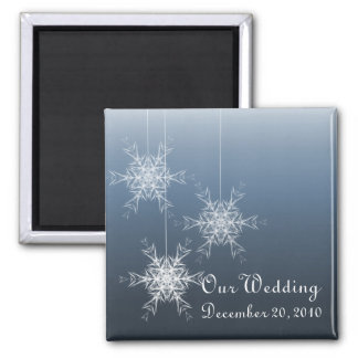 磁石を結婚する冬の雪片 マグネット