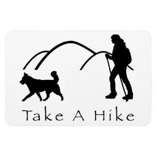 磁石ハスキーなハイキング及び丘を取って下さい マグネット