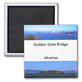 磁石-ゴールデンゲートブリッジおよびAlcatraz マグネット