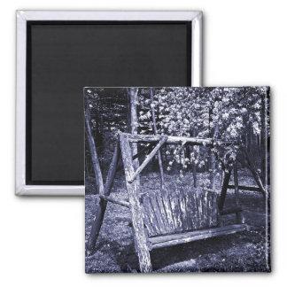 磁石-国の木の振動-青 マグネット