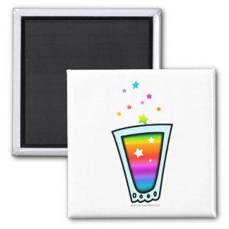 磁石-虹の小グラス マグネット