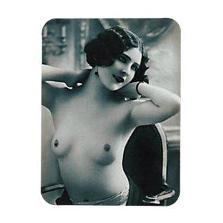 磁石-裸Bosomedの若い女性 マグネット