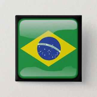 磨かれるブラジル人 5.1CM 正方形バッジ