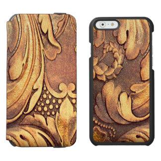 磨かれるAcanthusの葉の木工業木切り分けること Incipio Watson™ iPhone 5 財布型ケース
