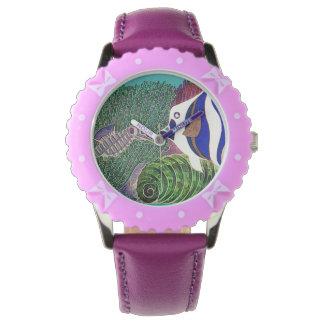 礁のデザインの海洋生物 腕時計