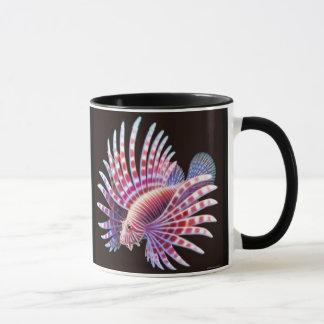 礁のミノカサゴの信号器のマグ マグカップ