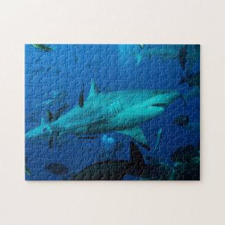 礁の鮫のグレート・バリア・リーフの珊瑚海 ジグソーパズル