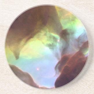 礁湖の星雲のハート コースター