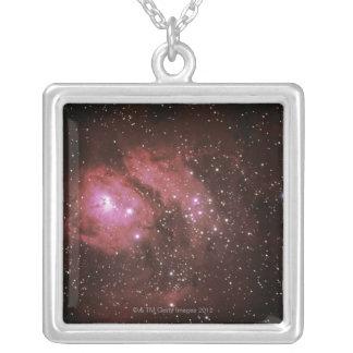 礁湖の星雲 シルバープレートネックレス