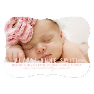 示される写真の誕生の発表| カード