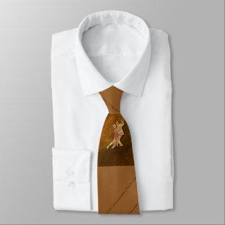 社交ダンスのブラウンのネクタイ ネクタイ