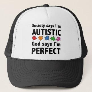 社会は私がAustisticであることを言います。 神は私が完全であることを言います キャップ