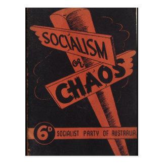 社会主義か無秩序 ポストカード