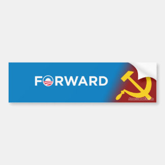 社会主義に前方オバマ2012年(パロディ) バンパーステッカー