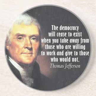 社会主義のトーマス・ジェファーソンの引用文 コースター