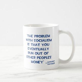 社会主義のマーガレット・サッチャーの引用文の問題 コーヒーマグカップ