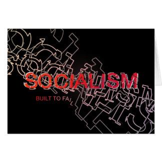 社会主義は失敗するために造られます カード