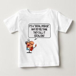 社会主義は社会病気です ベビーTシャツ