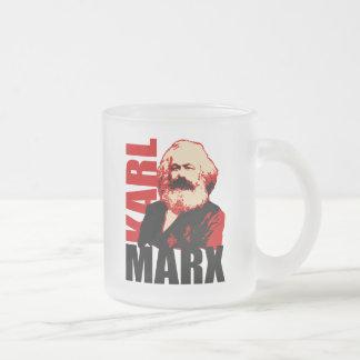 社会主義カール・マルクスのポートレート フロストグラスマグカップ