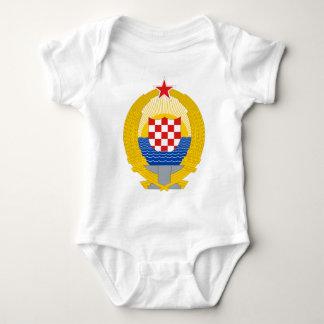 社会主義クロアチア共和国の紋章付き外衣 ベビーボディスーツ
