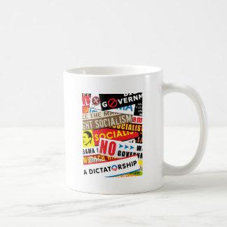 社会主義プロパガンダ無し コーヒーマグカップ