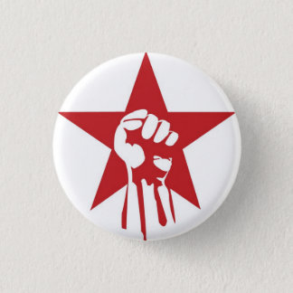 社会主義握りこぶしボタン 3.2CM 丸型バッジ
