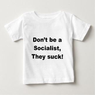 社会主義者があないで下さい ベビーTシャツ