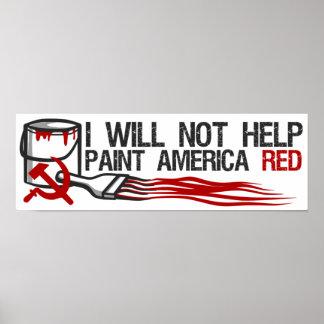 社会主義者の赤いペンキ ポスター