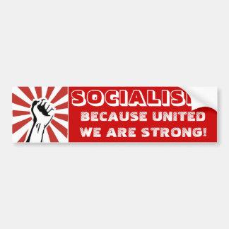 社会主義! 統一された私達が強いので! バンパーステッカー