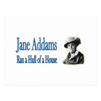 社会事業: ジェーンAddamsは家の外皮を走りました ポストカード