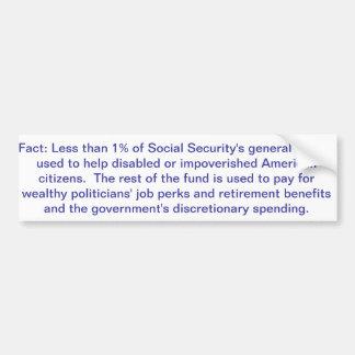 社会保障の概要の資金のバンパーステッカー バンパーステッカー