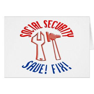 社会保障を救って下さい! 背景を個人化して下さい カード