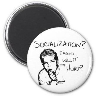 社会化は傷つきますか。 マグネット