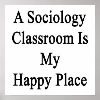 社会学の教室は私の幸せな場所です ポスター