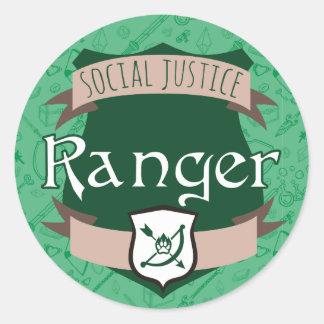 社会正義のクラスのステッカー: レーンジャー ラウンドシール