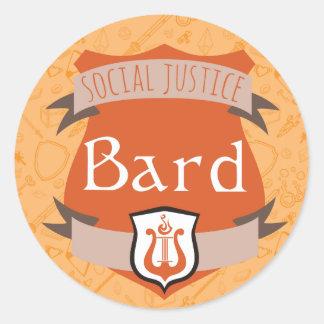社会正義のクラスのステッカー: 楽師 ラウンドシール
