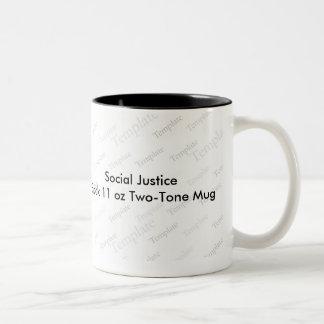 社会正義の黒11のozのツートーンマグ ツートーンマグカップ
